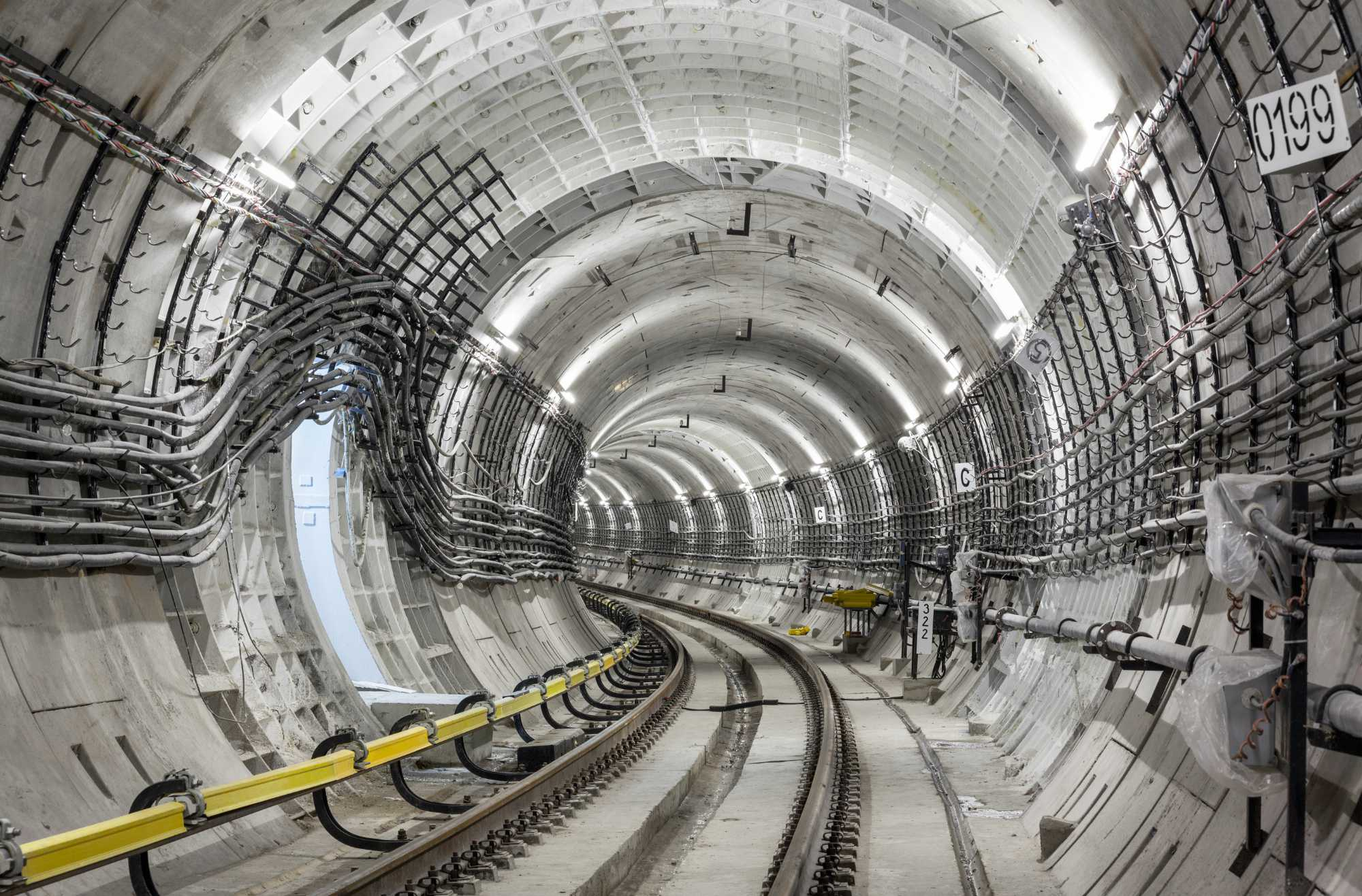 Construction of the subway tunnel in Moscow